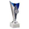 Pokal Anna, silber/blau, 3 Größen, Motiv nach Wahl