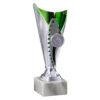 Pokal Anna, silber/grün, 3 Größen, Motiv nach Wahl